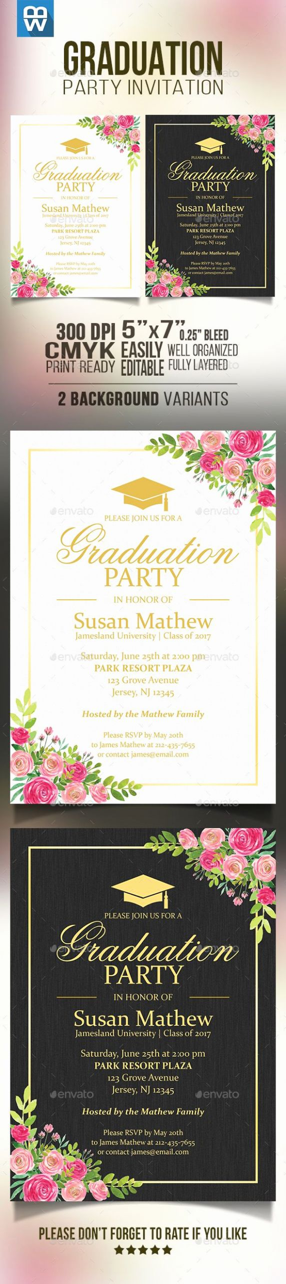 Template for Graduation Invitation Awesome Best 25 Graduation Invitation Templates Ideas On
