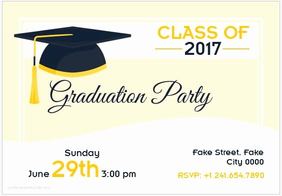 Template for Graduation Invitation Best Of 10 Best Graduation Party Invitation Card Templates Ms Word