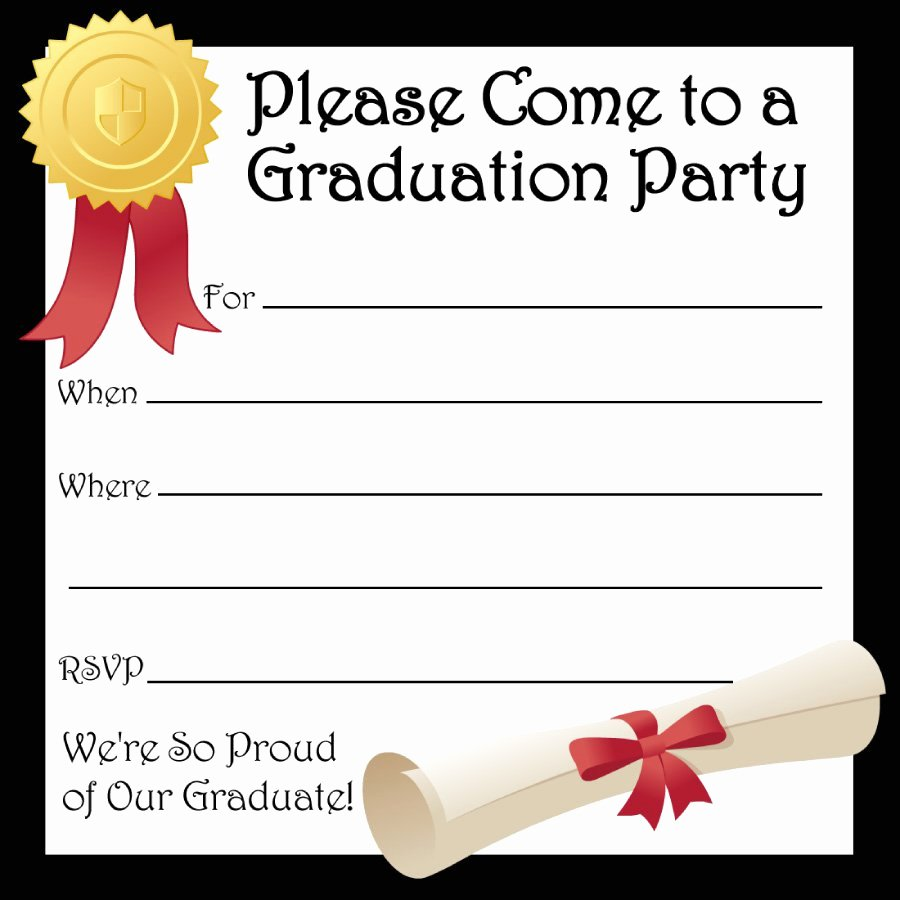 Template for Graduation Invitation Best Of 40 Free Graduation Invitation Templates Template Lab
