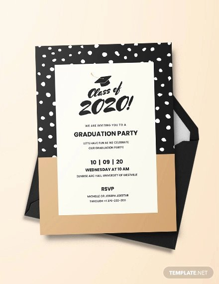 Template for Graduation Invitation Elegant 48 Sample Graduation Invitation Designs & Templates Psd