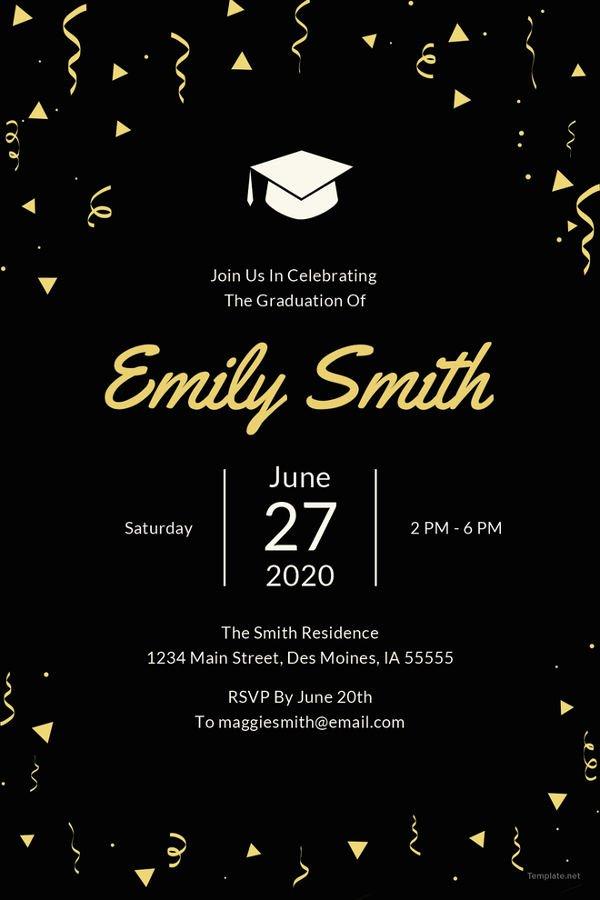 Template for Graduation Invitation Elegant Graduation Invitation Templates