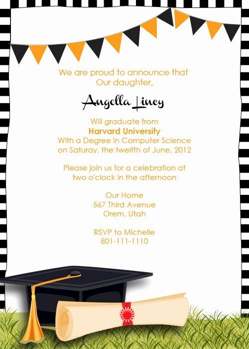Template for Graduation Invitation Elegant Graduation Party Invitation ← Wedding Invitation Templates