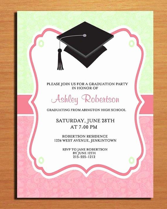 Template for Graduation Invitation Fresh Free Printable Graduation Party Invitation Template