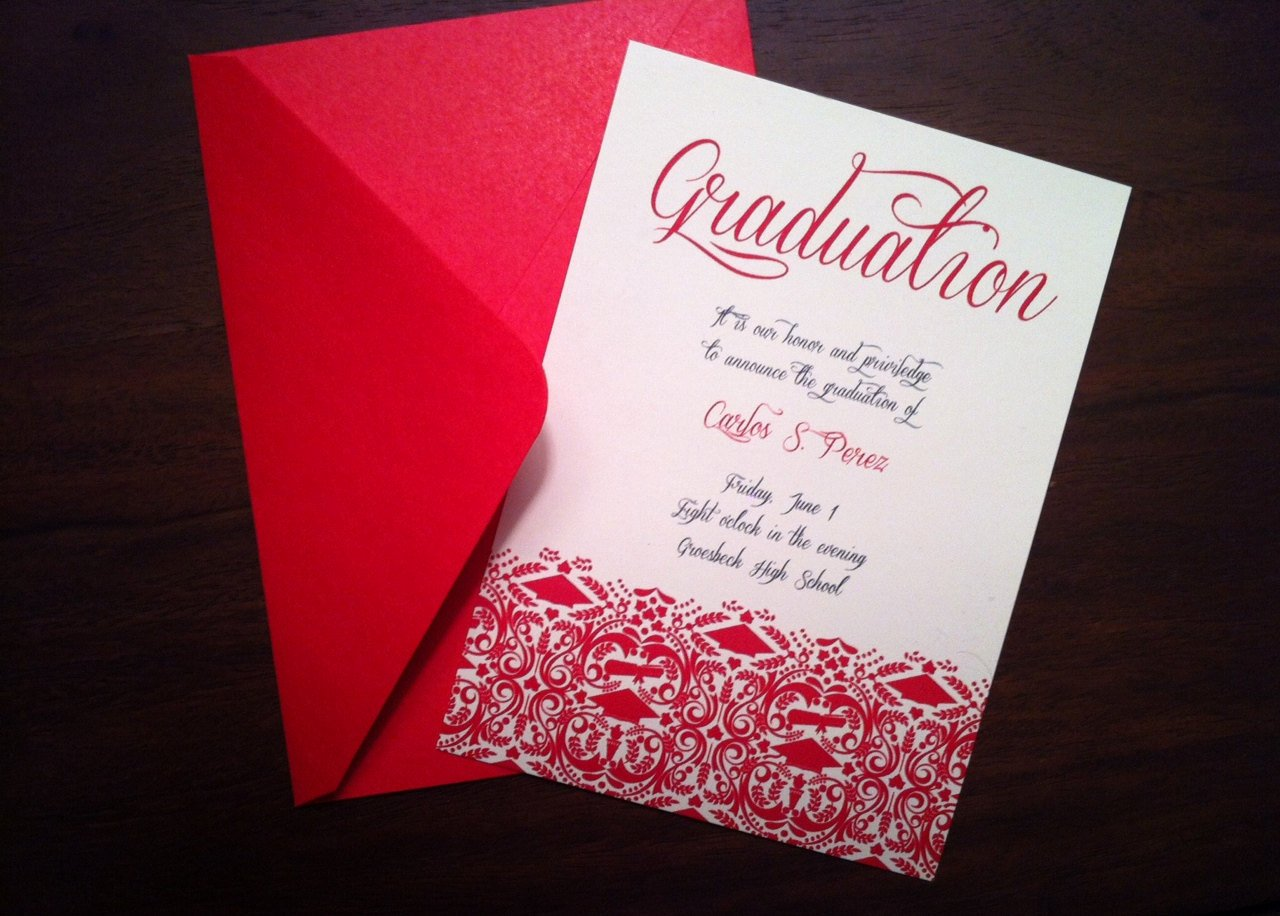 Template for Graduation Invitation Lovely Diy Graduation Invitation Announcement High School College