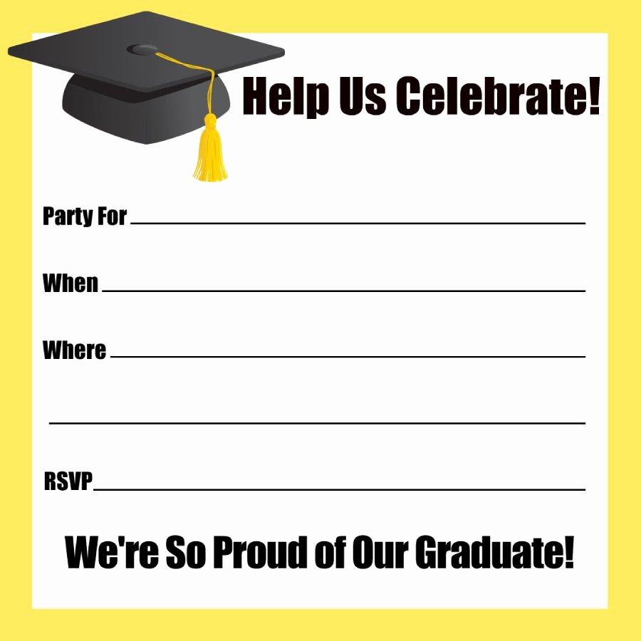Template for Graduation Invitation Luxury 40 Free Graduation Invitation Templates Template Lab
