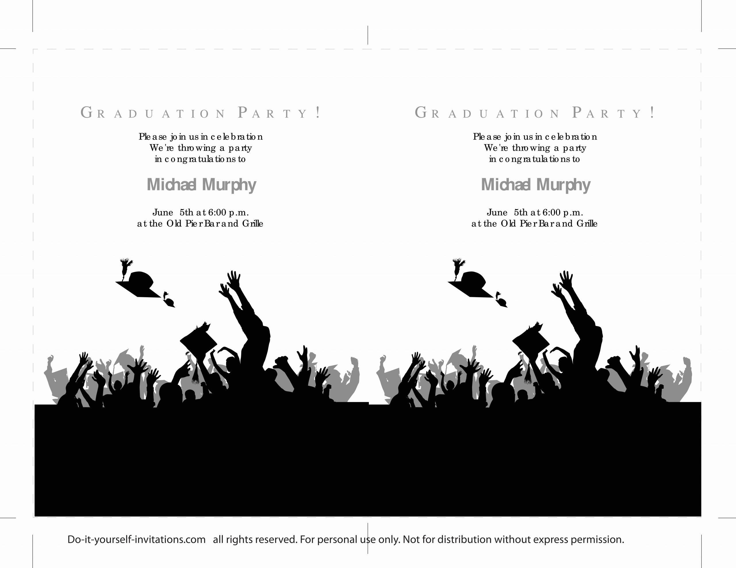 Template for Graduation Invitation New 40 Free Graduation Invitation Templates Template Lab