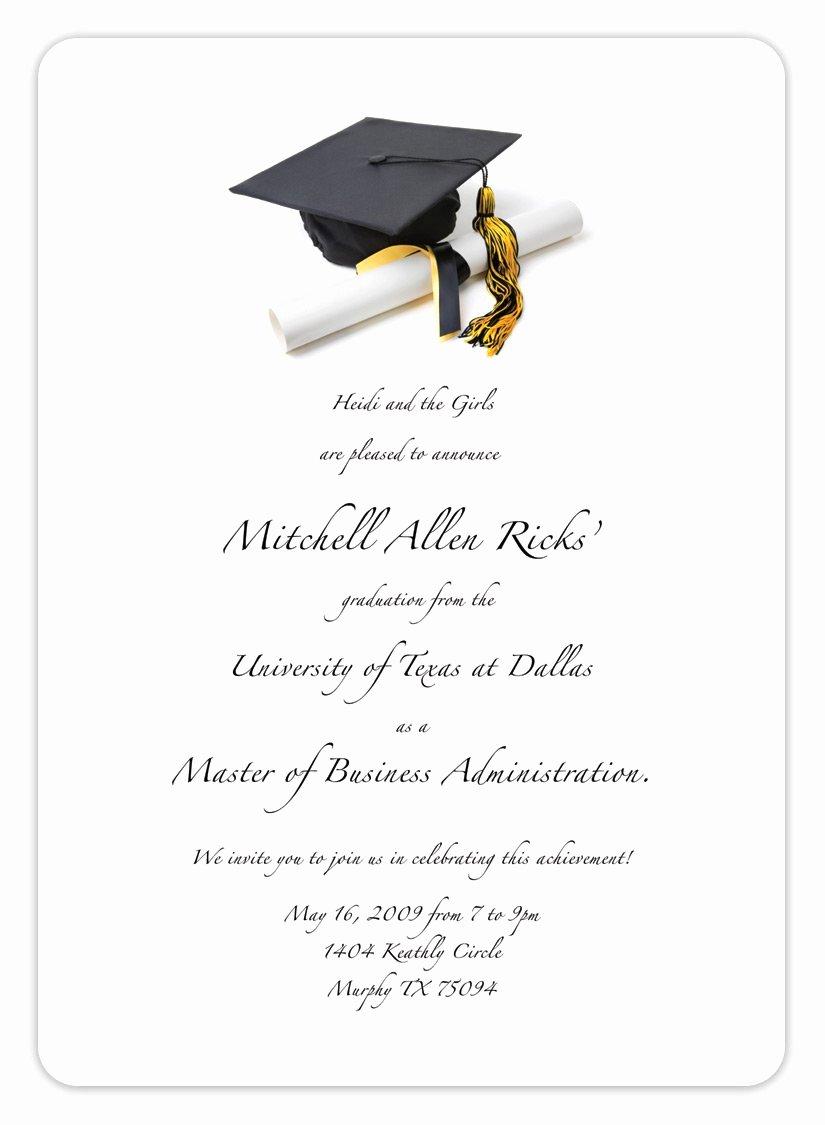 Template for Graduation Invitation New Free Printable Graduation Invitation Templates 2013