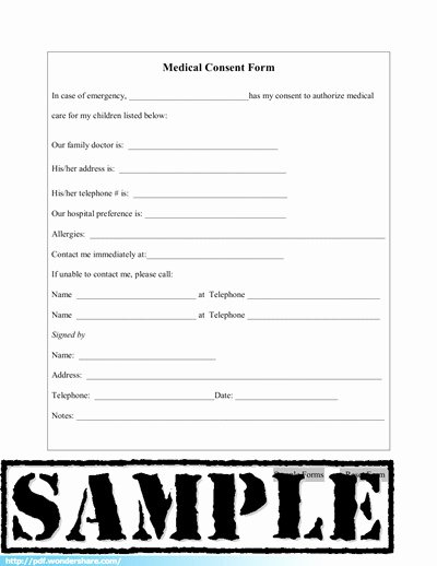 Template for Medical Release form Beautiful Medical Consent Free Download Create Fill Print Pdf