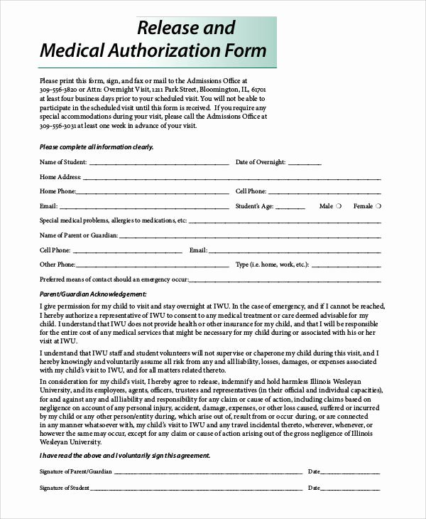 Template for Medical Release form Inspirational 47 Printable Release form Samples & Templates Pdf Doc