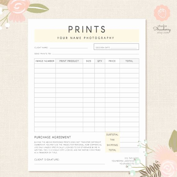 Template for order form Awesome order form Template Graphy order form Graphy