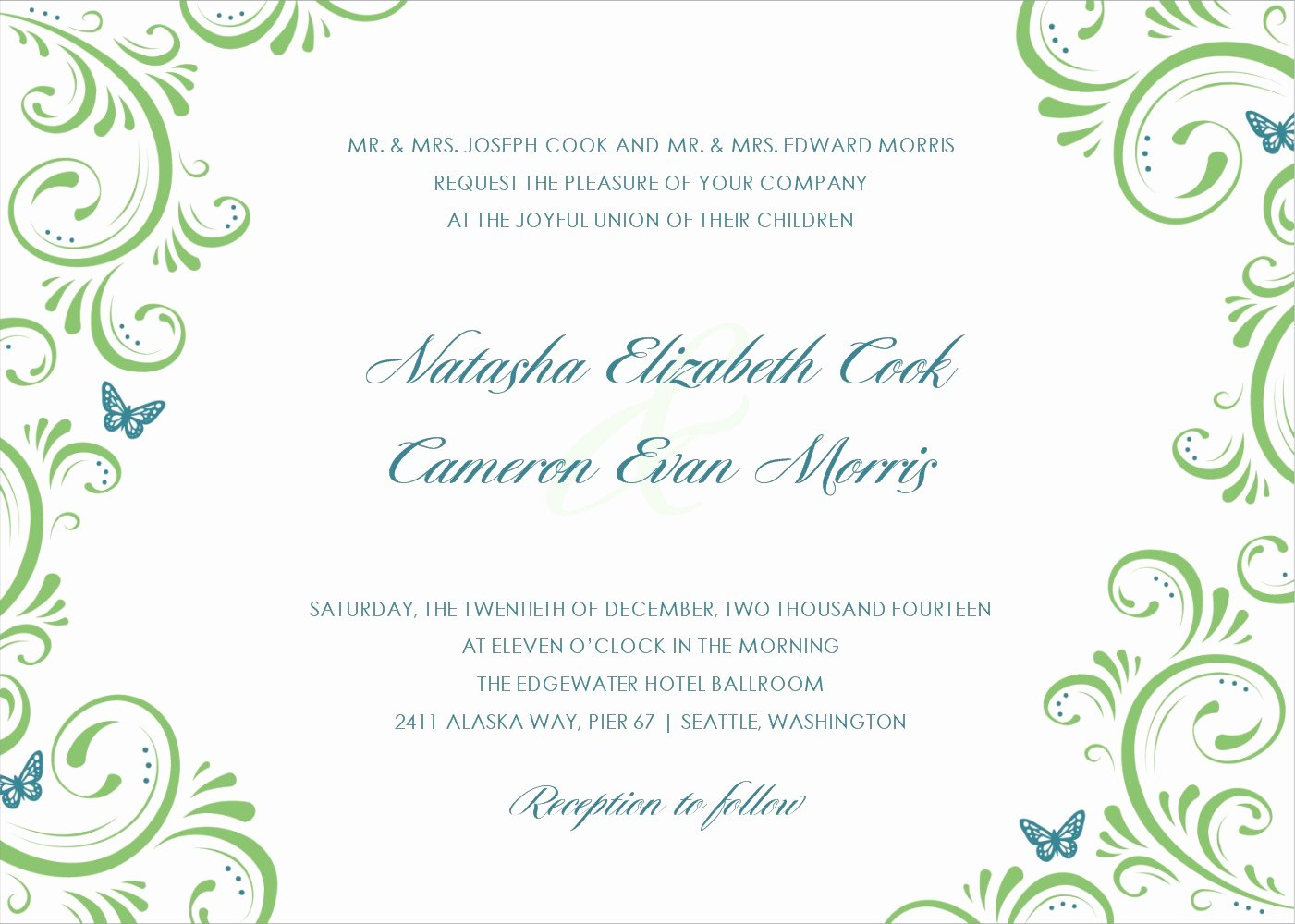 Template for Wedding Invitations Beautiful 15 Printable Wedding Invitation Templates Cards Samples