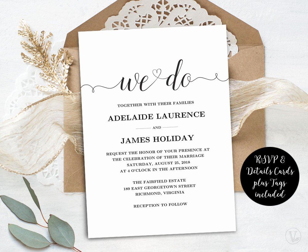 Template for Wedding Invitations Beautiful Wedding Invitation Template Rustic Wedding Invitations Kraft