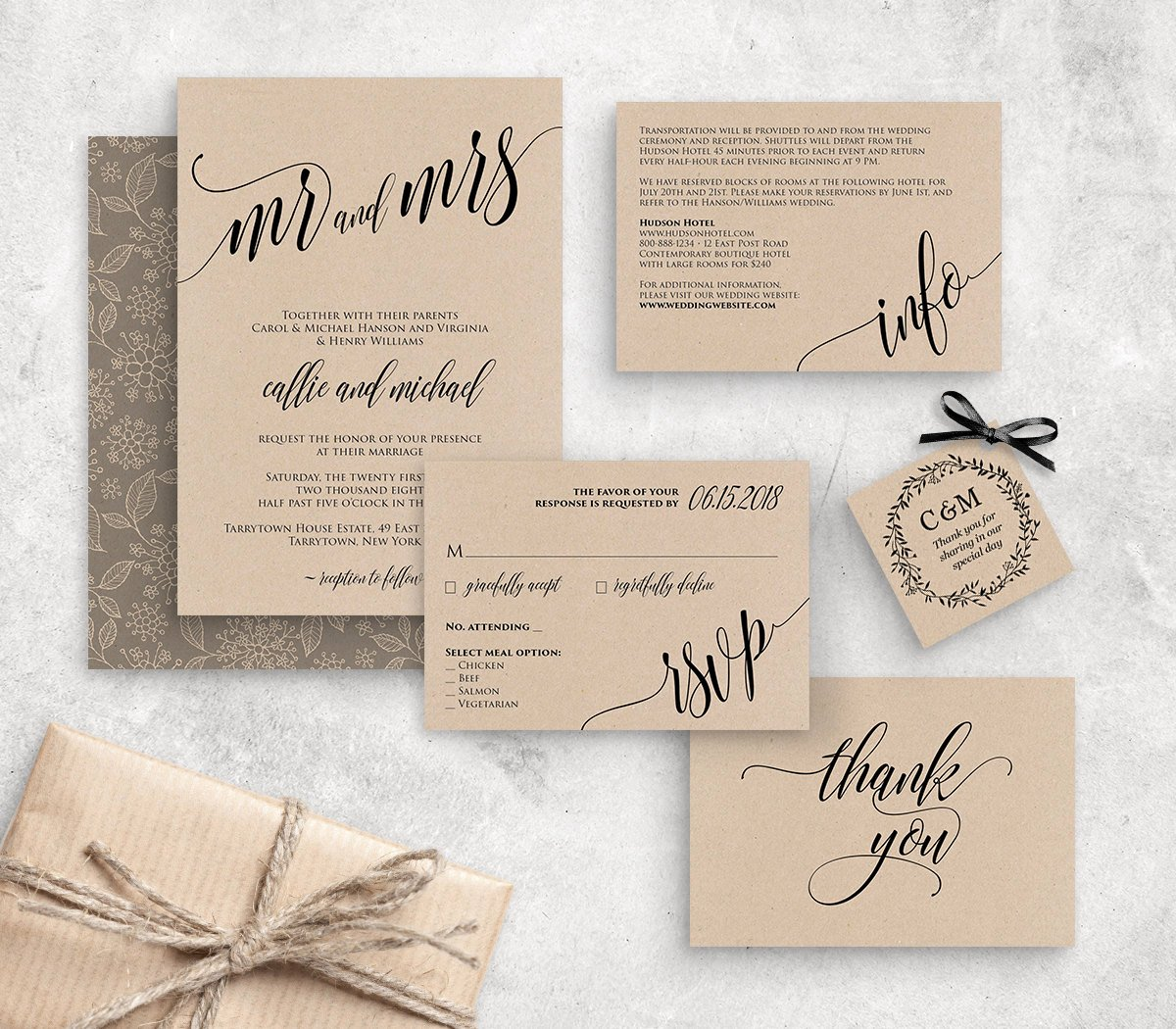 wedding invitation template instant