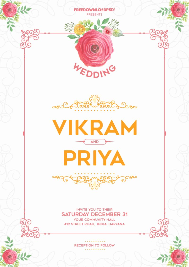 Template for Wedding Invitations Best Of Wedding Invitation Template
