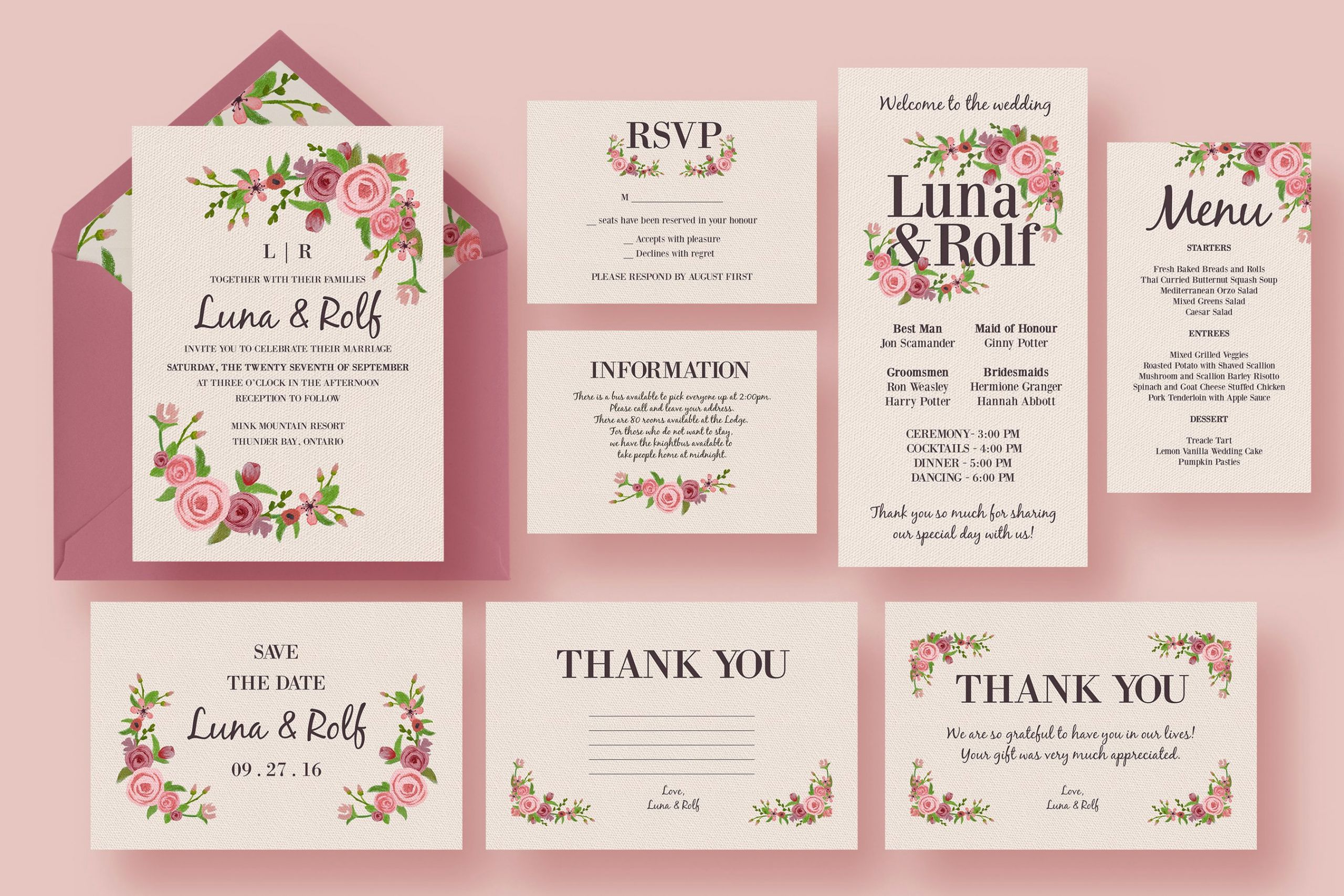 Template for Wedding Invitations Fresh Floral Wedding Invitation Suite Wedding Templates