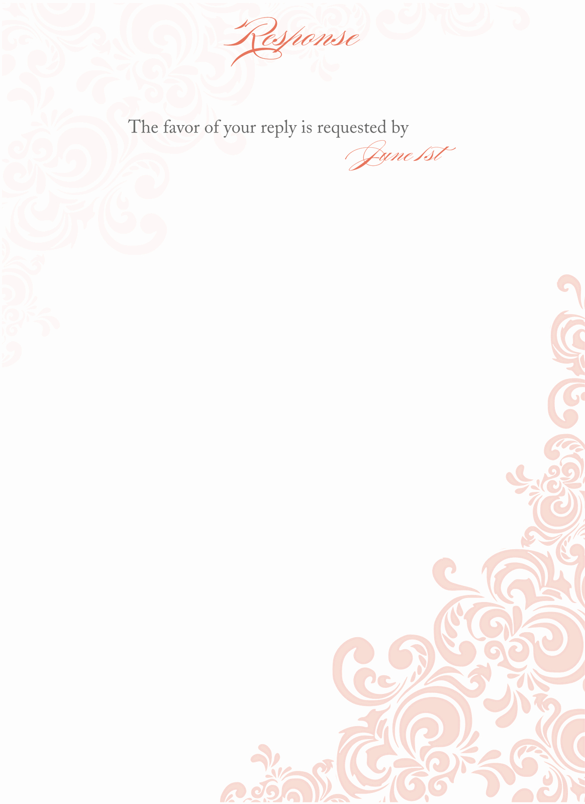 Template for Wedding Invitations Luxury Floral Blank Wedding Invitation Templates