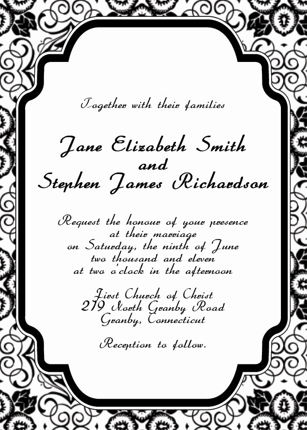 Template for Wedding Invitations Luxury Free Online Invitation Templates Rxgolfzw
