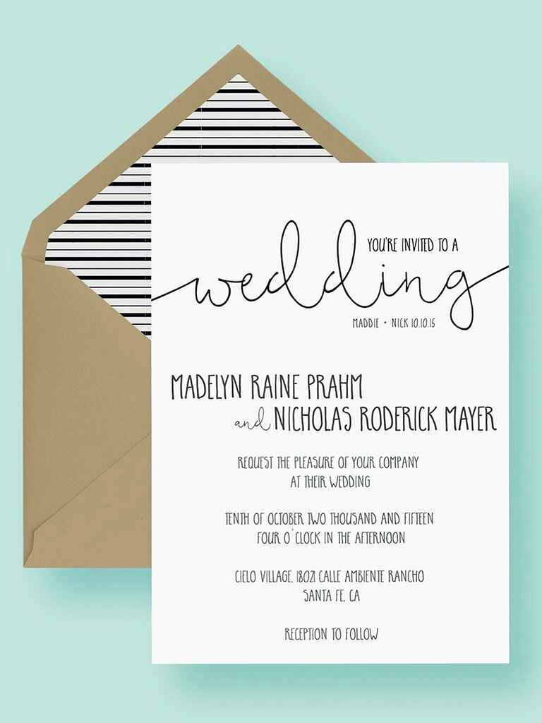 Template for Wedding Invitations New 16 Printable Wedding Invitation Templates You Can Diy