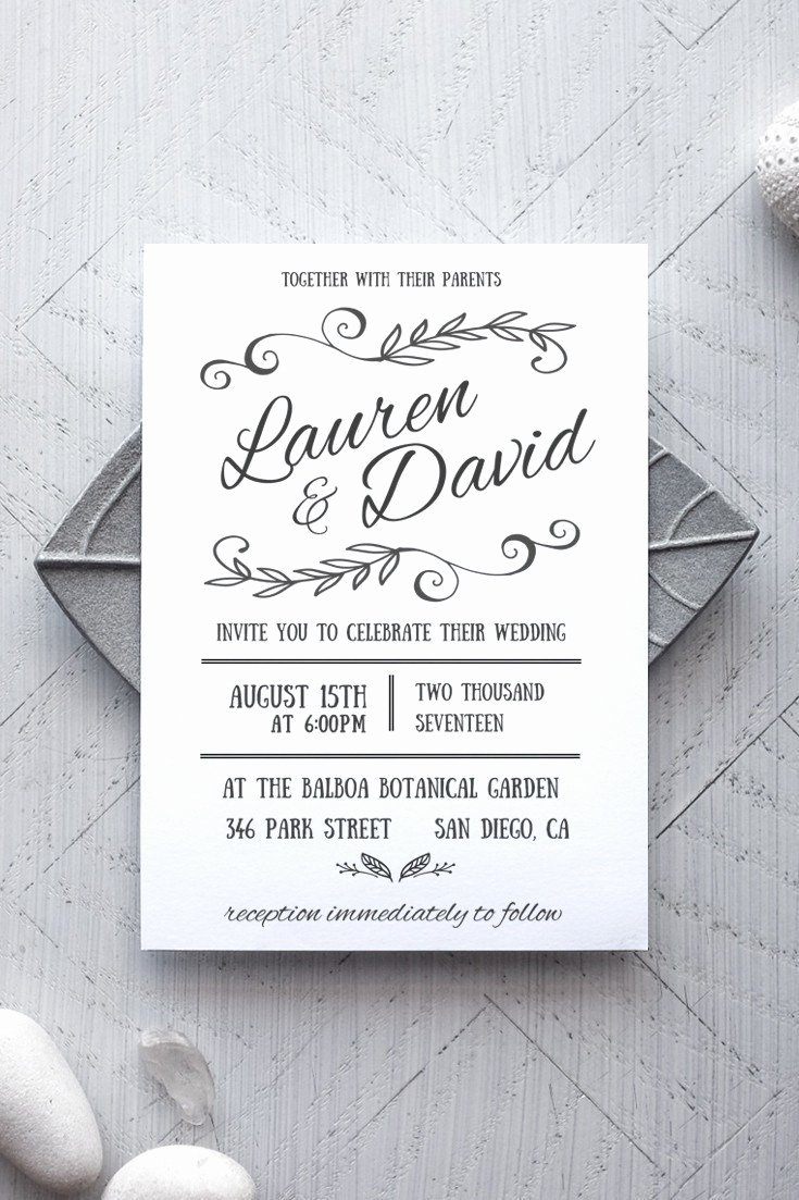 Template for Wedding Invitations Unique Printable Wedding Invitation Template Rustic Alchemie