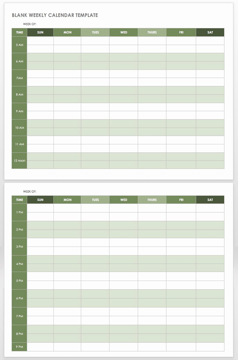 Template for Weekly Schedule Luxury 15 Free Weekly Calendar Templates