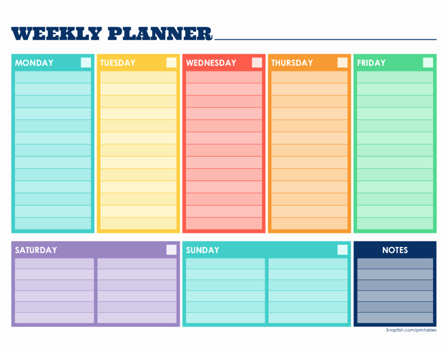 Template for Weekly Schedule Unique 2019 Weekly Planner Template Fillable Printable Pdf