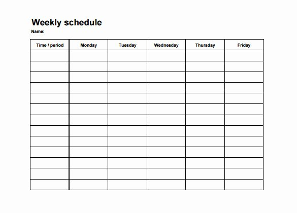 Template for Work Schedule Inspirational Weekly Employee Shift Schedule Template Excel