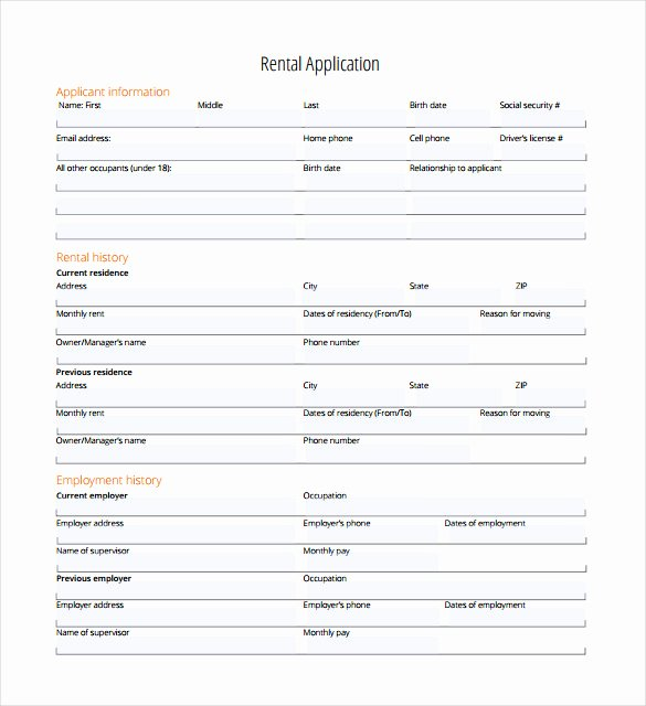 Tenant Information form Template Beautiful Rental Application 21 Free Word Pdf Documents Download