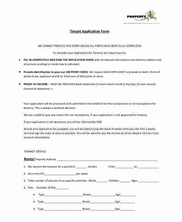 Tenant Information form Template New 8 Tenant Application form Templates Pdf Doc