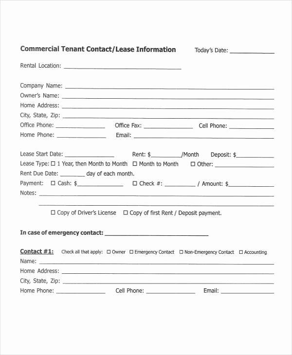Tenant Information Sheet Template Luxury 42 Information Sheet Templates