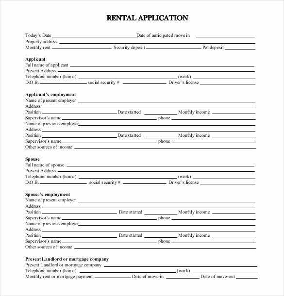 Tenant Information Sheet Template New Tenant Application form