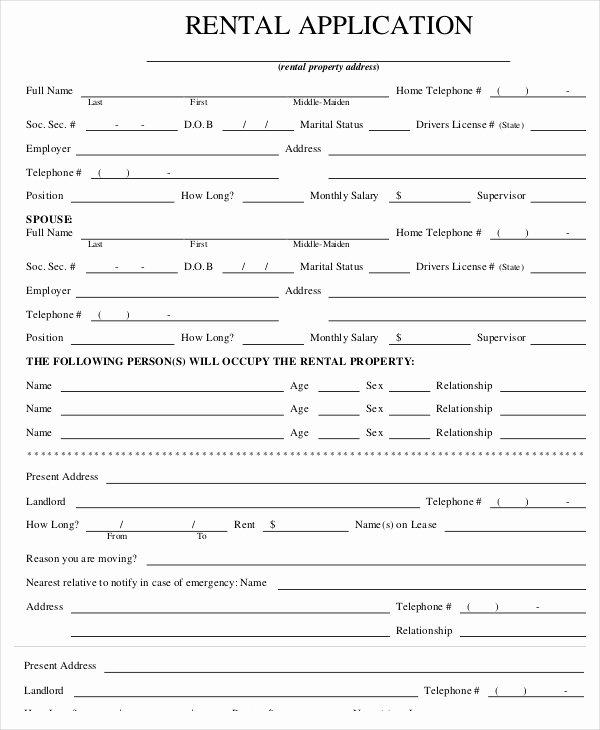 Tenant Information Sheet Template Unique Rental Application Templates 10 Free Word Pdf