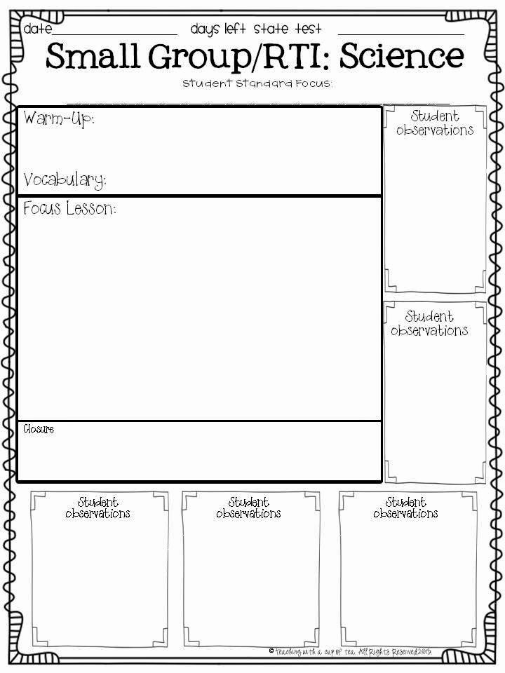 Texas Lesson Plans Template Awesome Teaching with A Cup Of Tea Small Group & Interventions