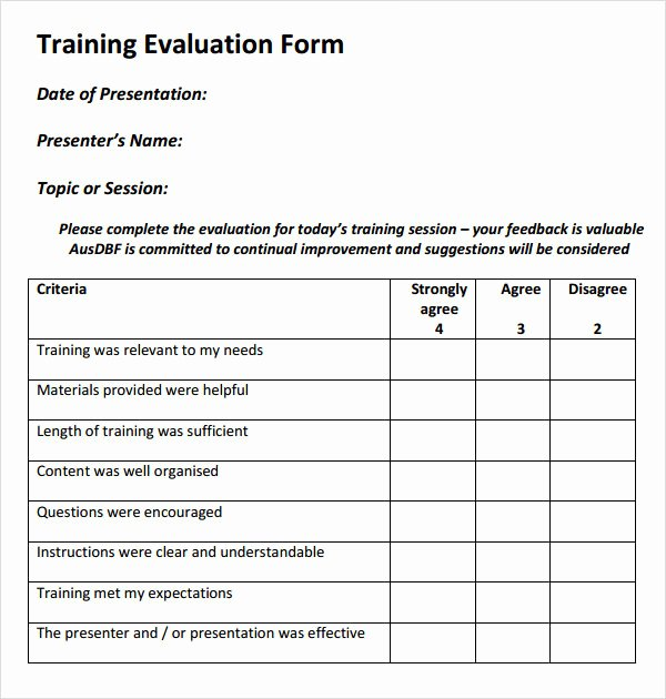 Training Evaluation form Template Awesome Register ordner Vorlage – Vorlagens Download