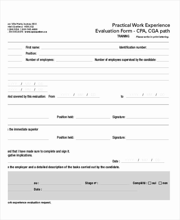 Training Evaluation form Template Fresh Free 26 Training Evaluation form Templates