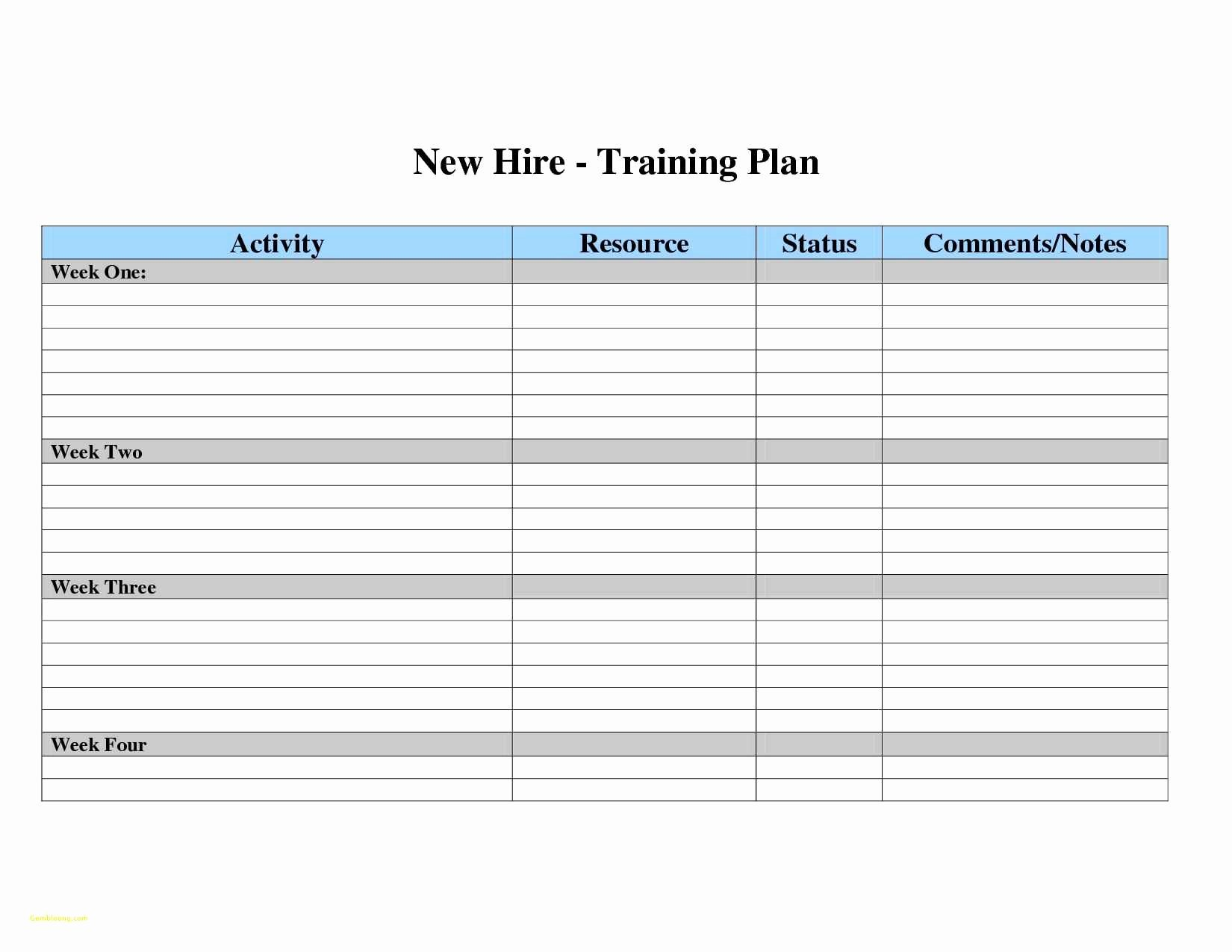 Training Plan Template Excel Awesome Employee Training Spreadsheet Template Google Spreadshee