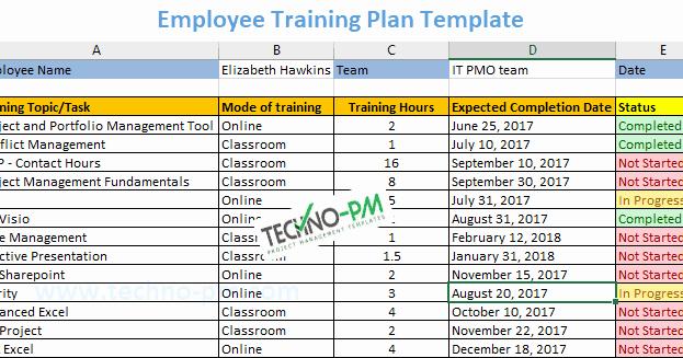 Training Plan Template Excel Elegant Employee Training Plan Excel Template Download Project