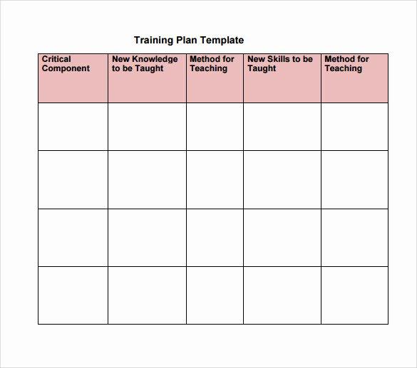 Training Plan Template Excel Elegant Training Plan Template Excel Download – Planner Template Free