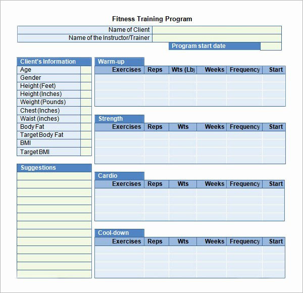 Training Plan Template Excel Fresh Training Plan Template Excel Download – Planner Template Free