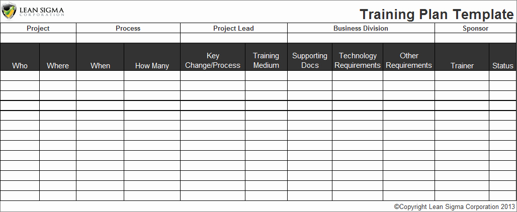 Training Plan Template Excel New Employee Training Plan Template