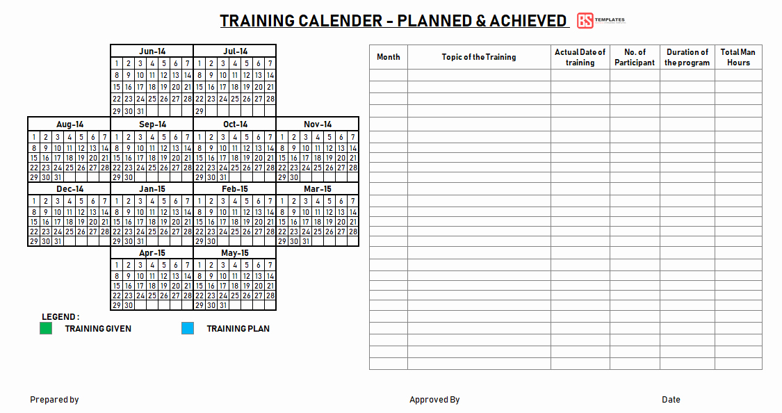 Training Plan Template Excel Unique Employee Training Plan Template Excel Project Annual