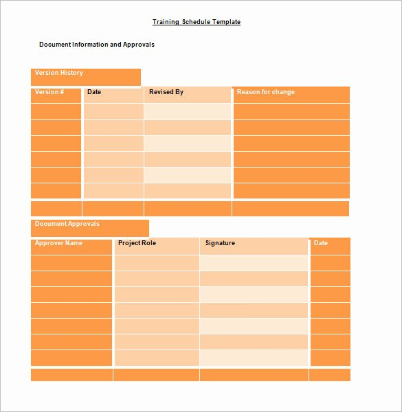 Training Schedule Template Excel Awesome Training Schedule Template