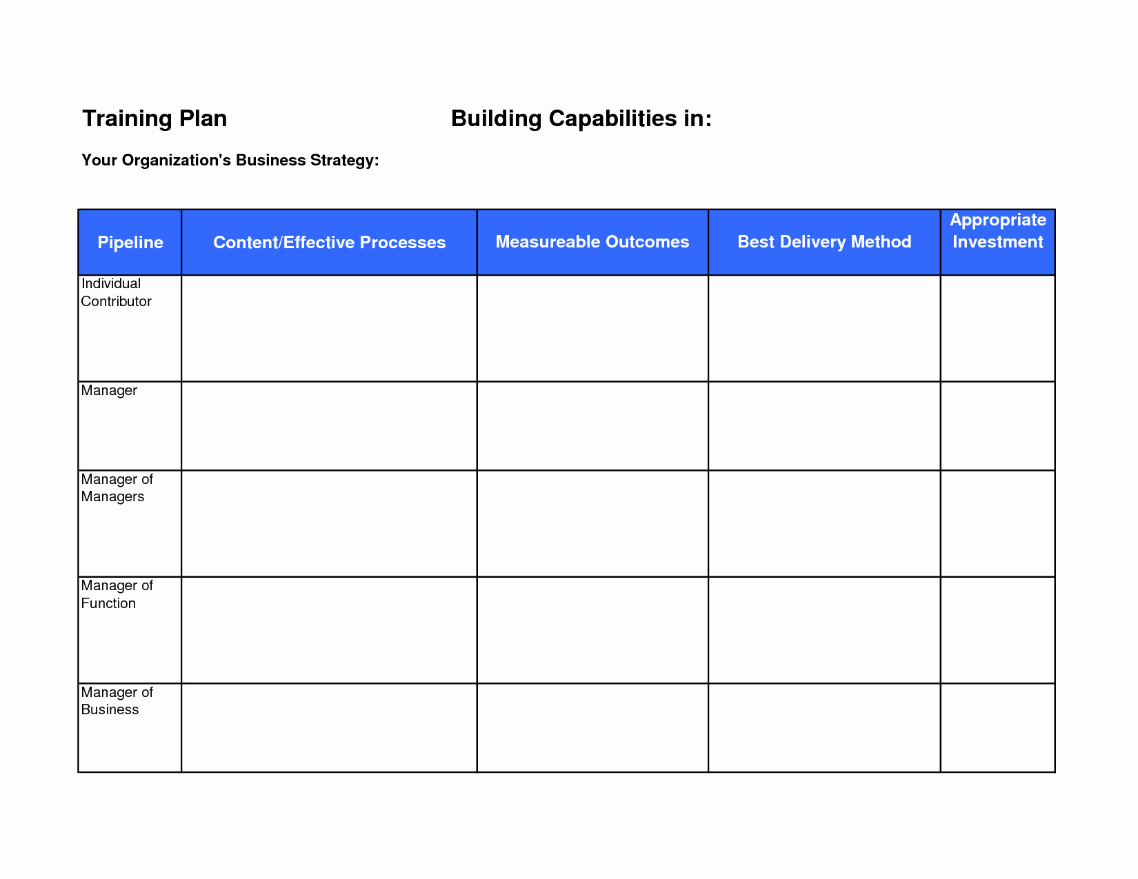 Training Schedule Template Excel Inspirational Exercise Program Exercise Program Outline