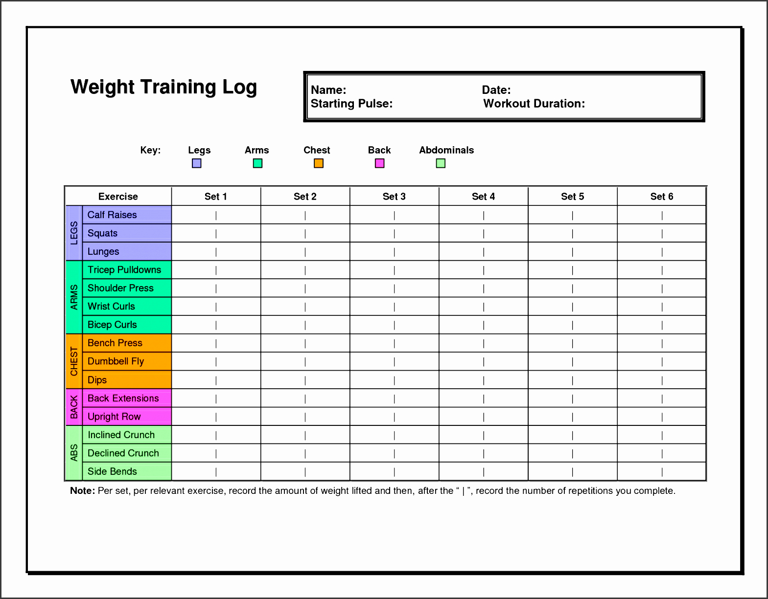 Training Schedule Template Excel Luxury 7 Exercise Planner Template In Excel Sampletemplatess