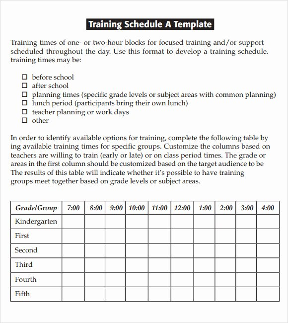 Training Schedule Template Excel Unique Free 21 Sample Training Calendar Templates In Google Docs