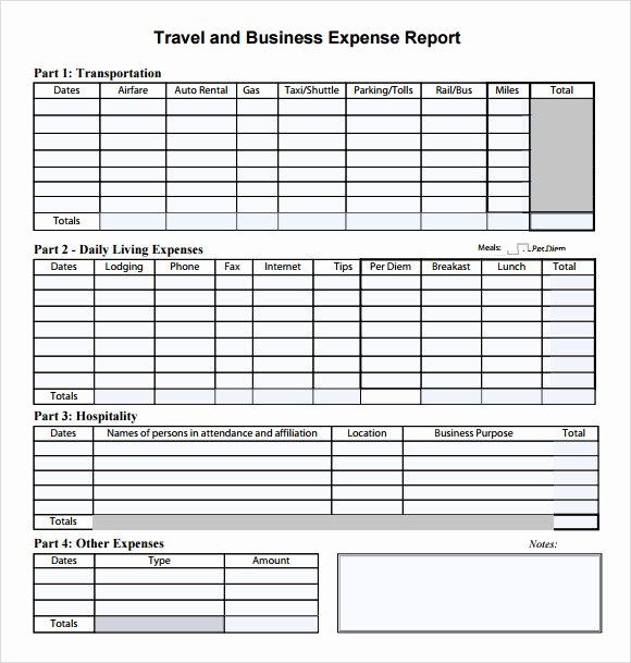 Travel Expense form Template Inspirational Sample Bud Summary 7 Documents In Pdf Word