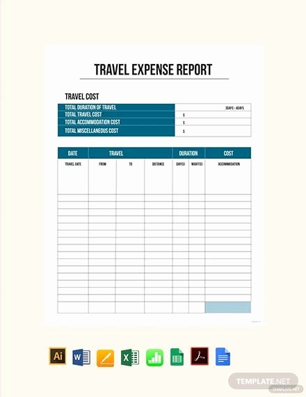 Travel Expense form Template Lovely Free Travel Expense Report Template Download 538 Reports