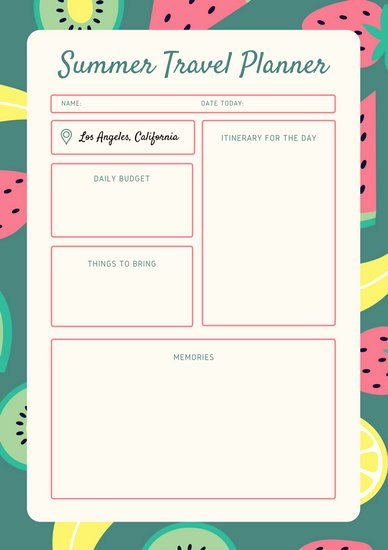 Travel Itinerary Planner Template Awesome Blue orange Vintage Itinerary Planner Templates by Canva