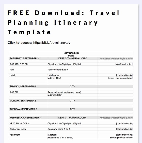 Travel Itinerary Planner Template Best Of Road Trip Planner Template
