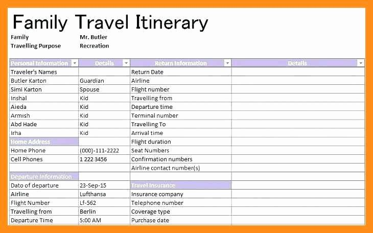 Travel Itinerary Planner Template Inspirational 12 13 Family Vacation Planner Template