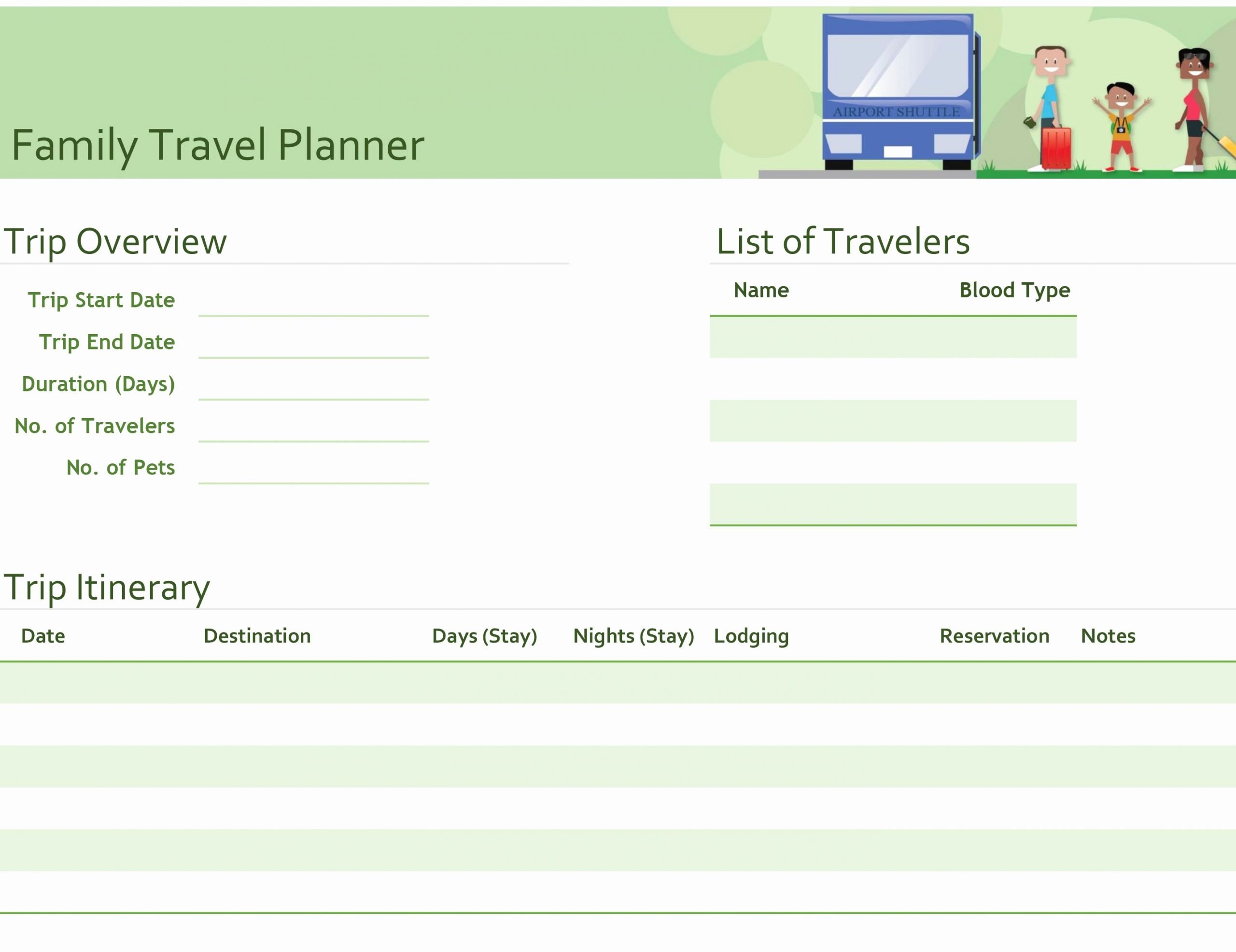 Travel Itinerary Planner Template Lovely Business Trip Itinerary with Meeting Schedule